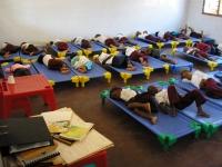 La hora de dormir en la escolinha